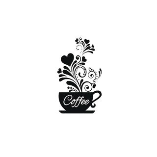 Kitchen Wall Decals Coffee Cup Theme