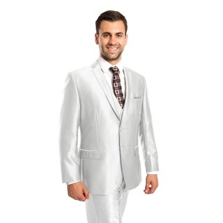 Men Suit Ivory Solid 3 Pieces Notch Lapel Classic Fit Mens Suits