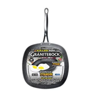 Granite Stone Non-stick Mineral Infused Square Frying Pans