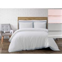 Porch & Den Valencia Cotton Linen Solid 3-piece Comforter Set