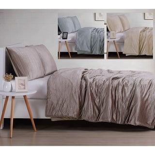 Christian Siriano NY® Crinkle Luster Velvet 3 Piece Duvet Cover Set
