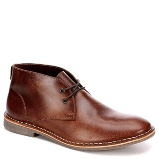 Franco Fortini Mens Dade Leather Chukka Boot Shoes, Brown