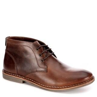 Franco Fortini Mens Hudson Lace Up Chukka Boot Shoes, Dark Tan