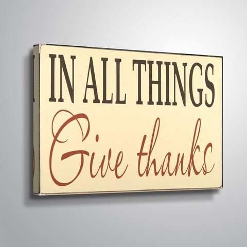 'ArtWall' Give Thanks Gallery Wrapped Canvas