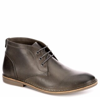 Franco Fortini Mens Hudson Lace Up Chukka Boot Shoes, Grey