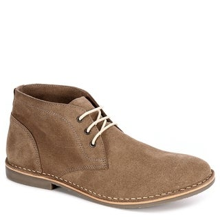 Franco Fortini Mens Hudson Lace Up Chukka Boot Shoes, Taupe