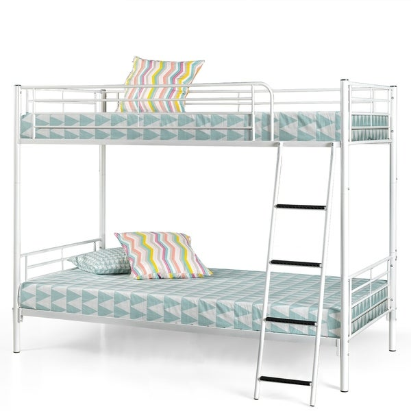 Priage by Zinus Luna Metal Twin over Twin Convertible Bunk Bed
