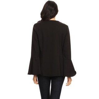 Women's Casual Solid Loose Draped Front Blazer Cardigan