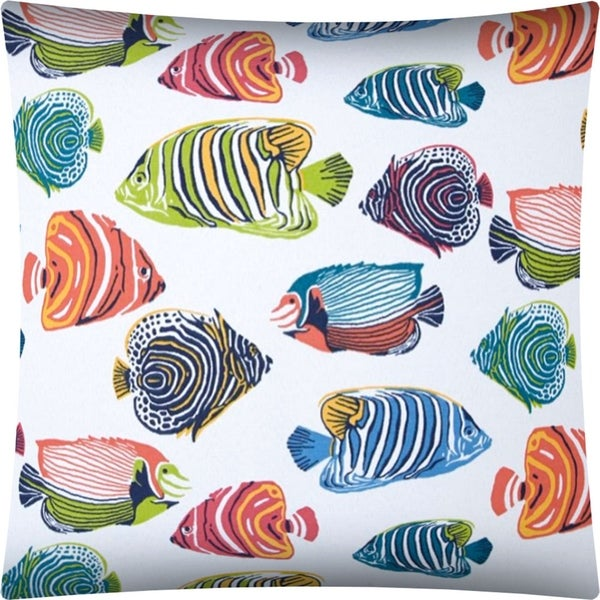 Shop Aquarium Indoor Outdoor Pillow Sewn Closure Free Shipping