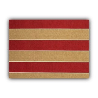 Joita MADALENA STRIPE Red Indoor/Outdoor Placemat - Finished Edge