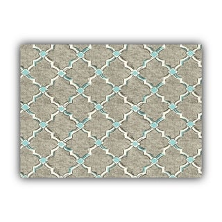 Joita TENNY Gray Indoor/Outdoor Placemat - Finished Edge