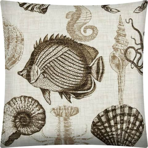 Joita UNDER THE SEA Taupe Indoor/Outdoor - Zippered Pillow Cover