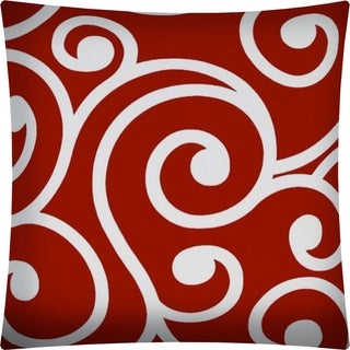 Joita SWIRLY Red Indoor/Outdoor - Zippered Pillow Cover