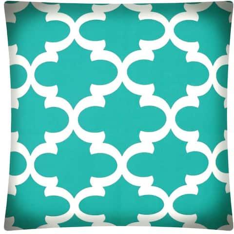 Joita FLANNIGAN Turquoise Indoor/Outdoor - Zippered Pillow Cover