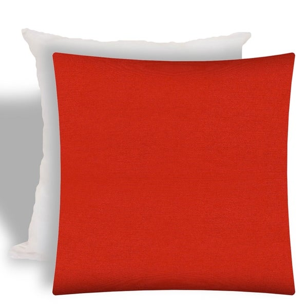 Shop Joita Shady Red Indoor Outdoor Zippered Pillow Cover With
