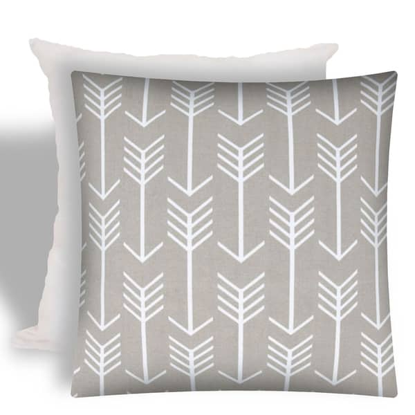 Joita Swift Taupe Indoor Outdoor Zippered Pillow Cover With Insert Overstock 23136180