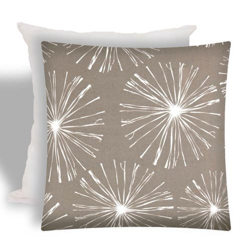 Joita FIREWORKS Taupe Indoor/Outdoor - Zippered Pillow Cover with Insert
