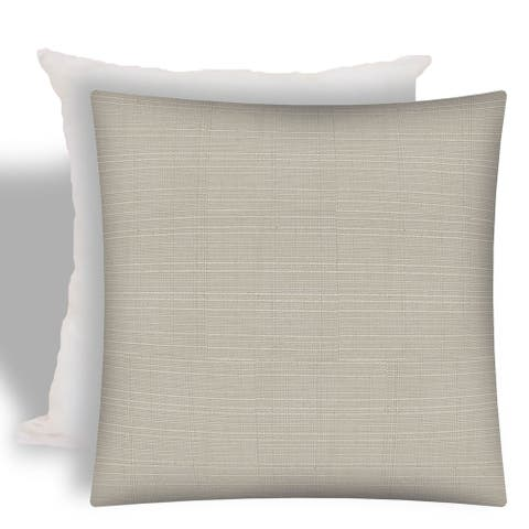 Pacifica Natural Indoor/Outdoor Zippered Pillow Cover with Insert by Havenside Home