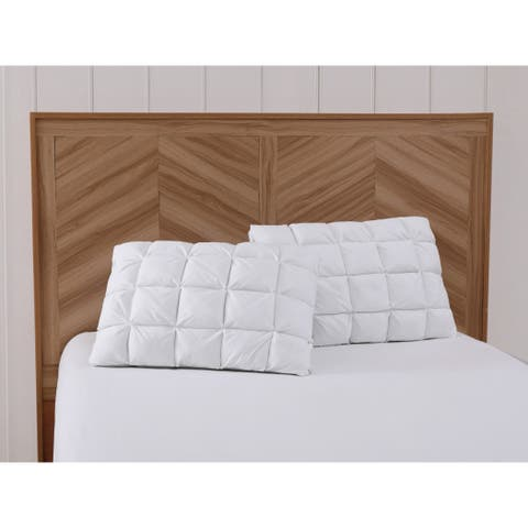 Charisma Luxe Down Alternative Gel Filled Chamber 2-Pack Pillow - White