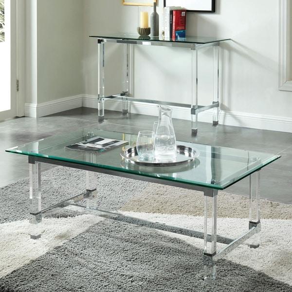 Acrylic Chrome Coffee Table: Shop Furniture Of America Duchamp Acrylic/Glass/Chrome