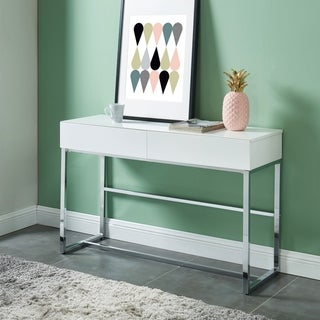 Furniture of America Vincini Modern White Wood 2-drawer Sofa Table