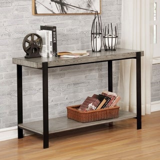 Carbon Loft Shelton Contemporary Grey Wash Console Table
