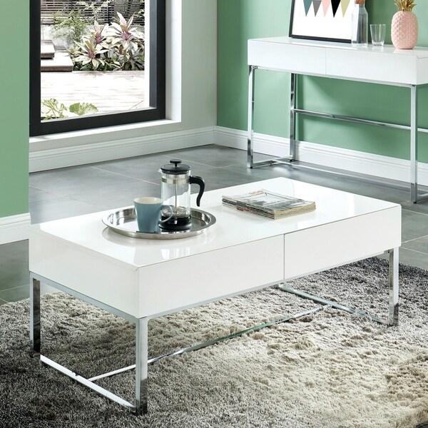 Shop Furniture Of America Vincini Modern White Coffee