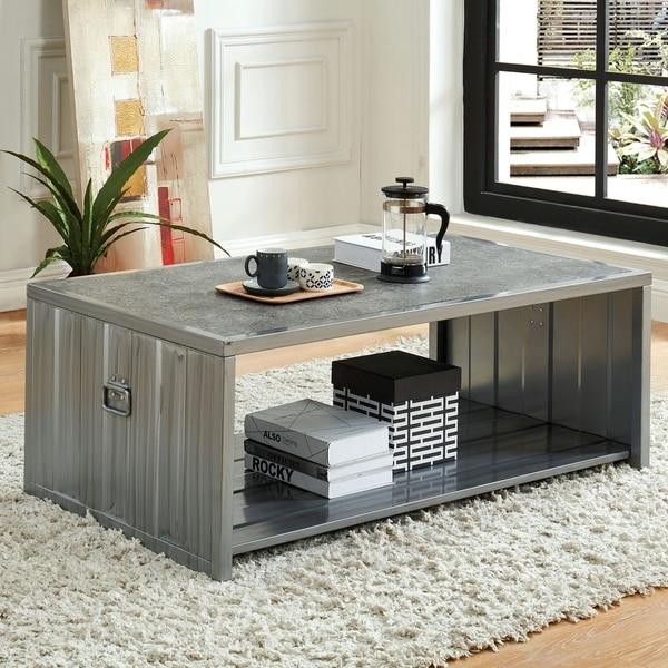Carbon Loft Woolf Industrial Metal Coffee Table