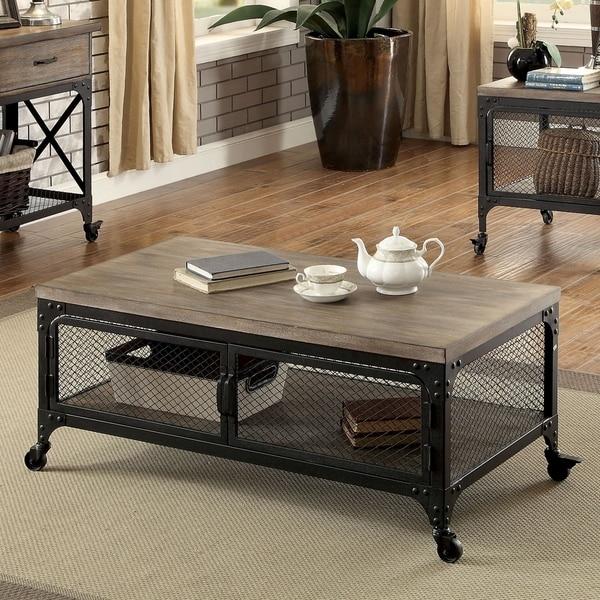 Shop Furniture Of America Albee Industrial Coffee Table
