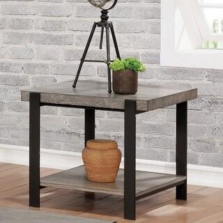 Carbon Loft Shelton Contemporary Grey Wash End Table