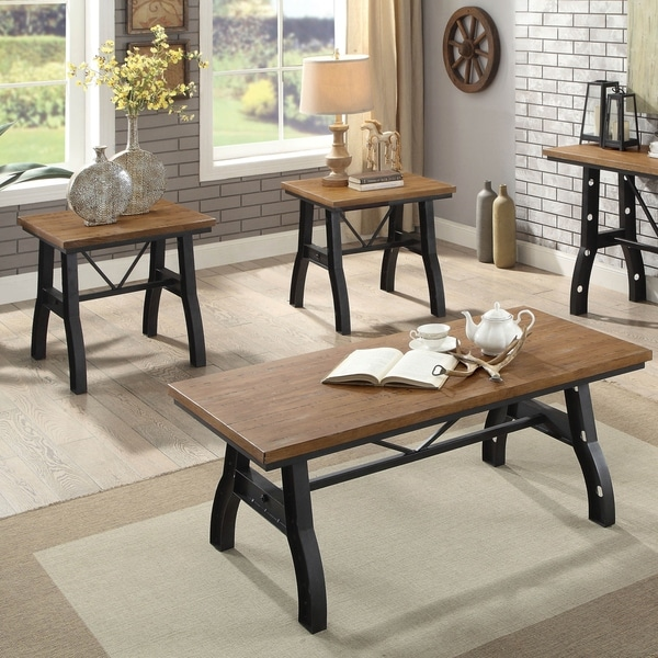 Shop Furniture Of America Hodgetown Industrial 3-Piece
