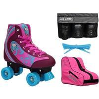 Epic Cotton Candy Quad Roller Skate 4Pc. Bundle w/Bag & Safety Pads