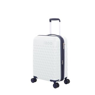 "IZod Fairway 20 Inch White Hardside Spinner Suitcase - 20"""