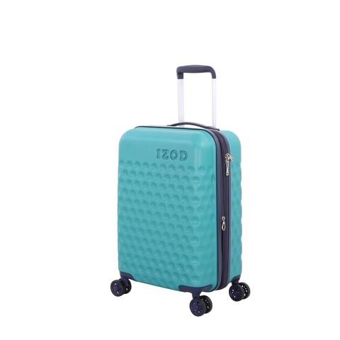 "IZod Fairway 20 Inch Teal Hardside Spinner Suitcase - 20"""