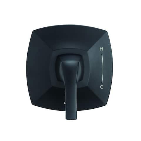 Gerber Vaughn 1H Valve Only Trim Kit & Treysta Cartridge D510418BSTC Satin Black