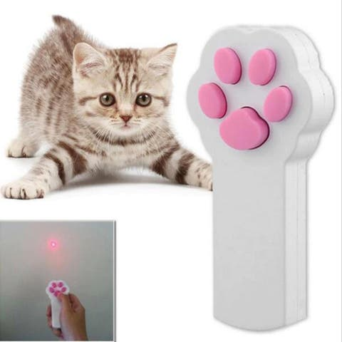 F.S.D Pet Cat Interactive Automatic Red Laser Pointer - White