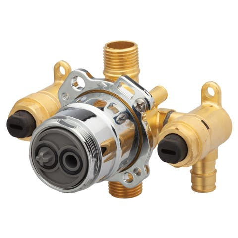Gerber Treysta Tub & Shower Valve- Vertical Inputs WITH Stops- Cold Expansion Pex G00GS527S