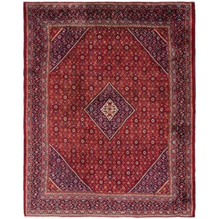 Hand Knotted Farahan Semi Antique Wool Area Rug - 10' x 12' 10