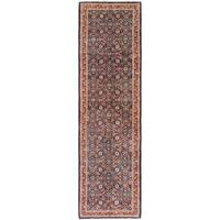 Hand Knotted Farahan Wool Runner Rug - 4' x 14'