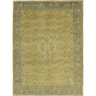 Hand Knotted Farahan Semi Antique Wool Area Rug - 10' x 13' 7