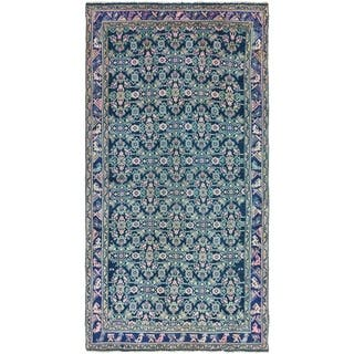 Hand Knotted Farahan Semi Antique Wool Runner Rug - 5' 4 x 10' 5