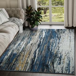 Contemporary Indoor Abstract Laguna Rug