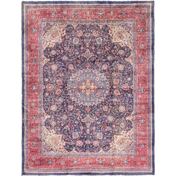 Shop Hand Knotted Farahan Antique Wool Area Rug 10 X 12 10 On