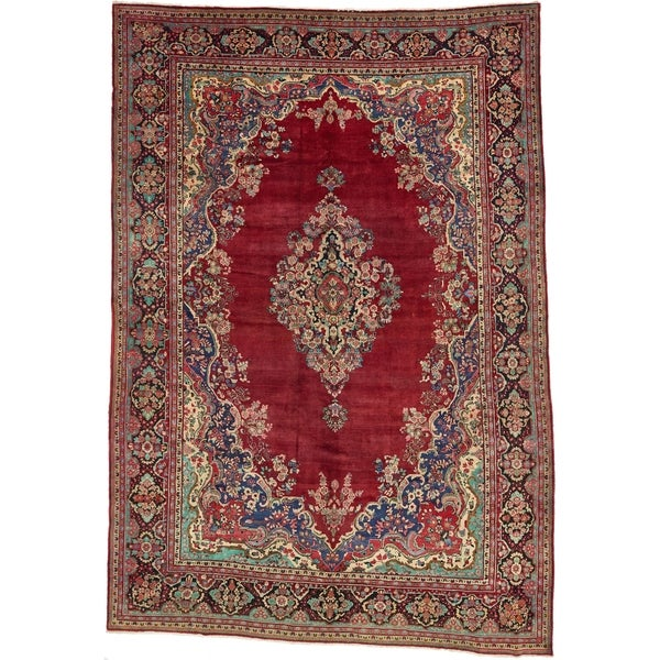 Shop Hand Knotted Farahan Semi Antique Wool Area Rug 11 11 X 17