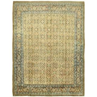 Hand Knotted Farahan Semi Antique Wool Area Rug - 9' 8 x 12' 9