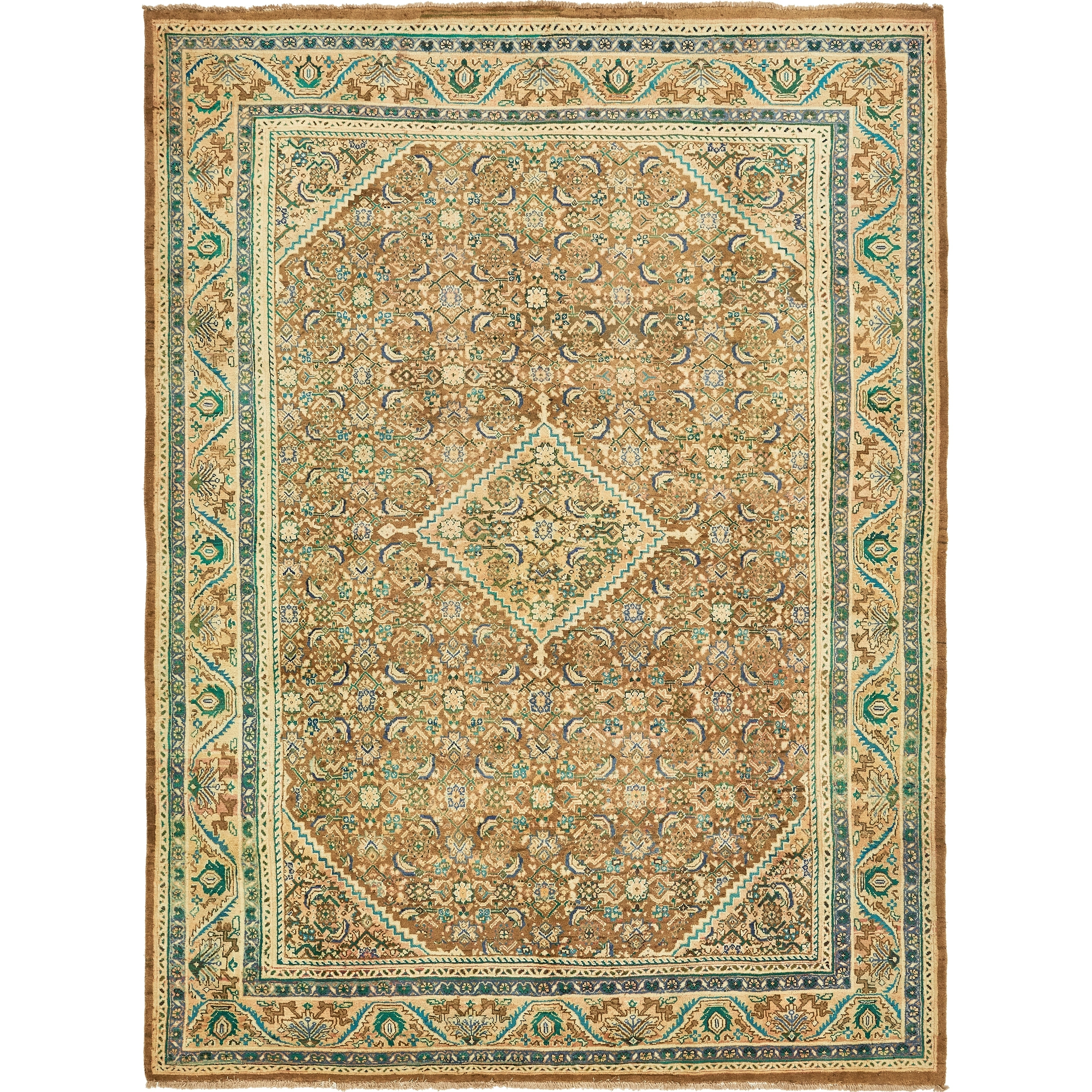 Shop Hand Knotted Farahan Semi Antique Wool Area Rug 9 11 X 13 4
