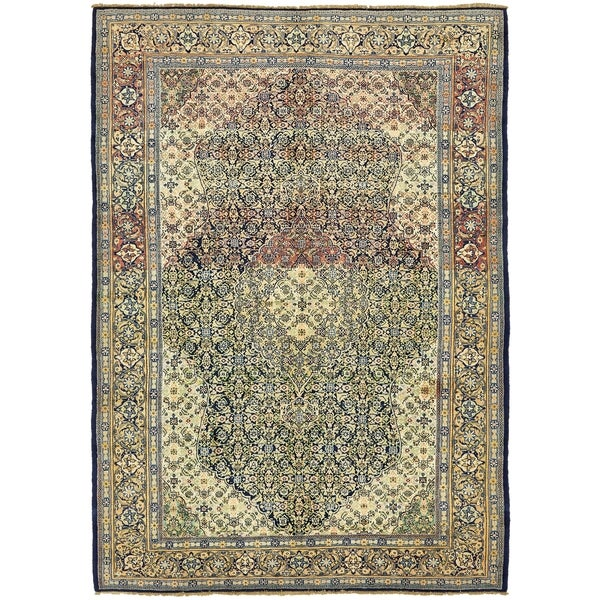 Shop Hand Knotted Farahan Semi Antique Wool Area Rug 8 X 11 3