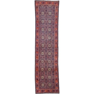 Hand Knotted Farahan Wool Runner Rug - 3' 8 x 14'