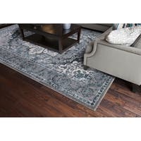 "Concord Global Thema Empress Blue Area Rug - 3'3"" x 4'7"""