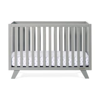 forever eclectic soho 4 in 1 convertible crib cool gray n - Mid Century Modern Crib